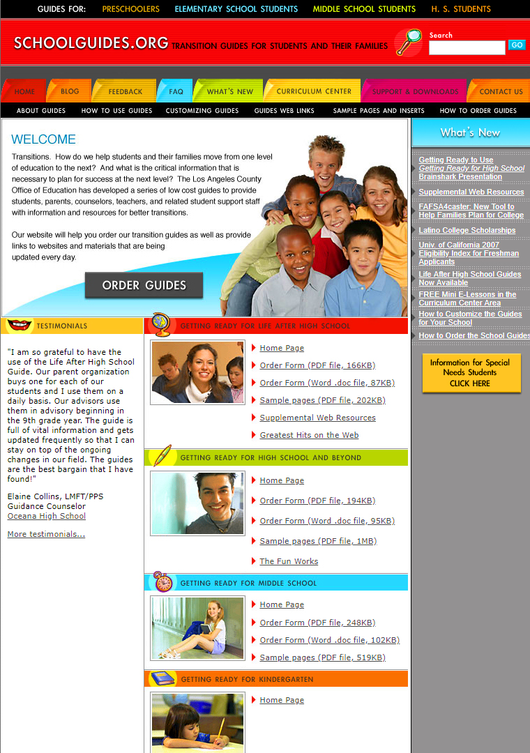 School and education website